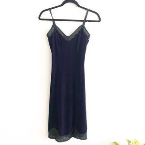 Vintage Betsy Johnson velvet slip dress